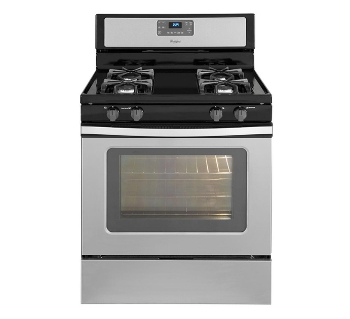 Gas Range With Self Cleaning Oven In Stainless Steel