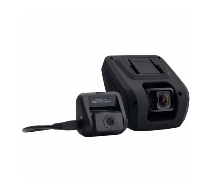 Rexing - V1LG 1080p Dash Cam with HD Rear Camera - Black